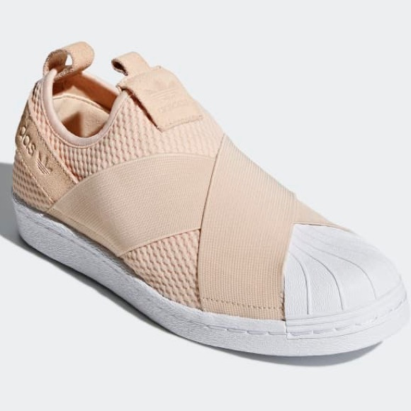 Authentic Adidas Superstar Slip On Nude / Linen NWT